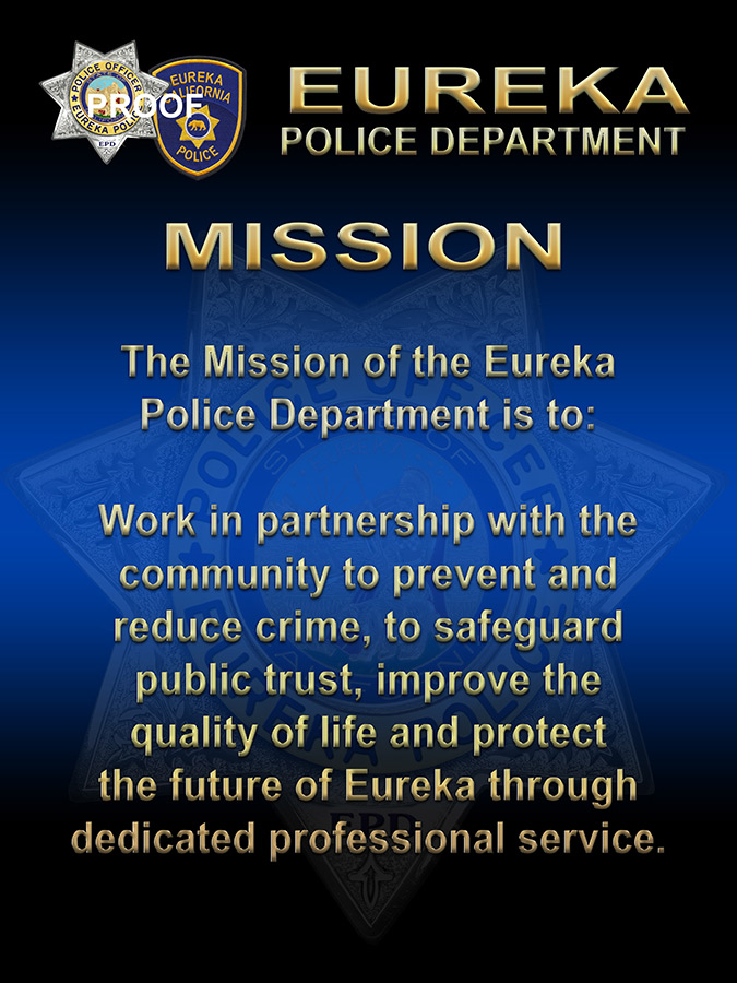 Eureka             PD Mission and Values presentations from Badge Frame