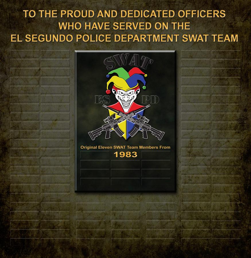El Segungo SWAT Perpetual Plaque