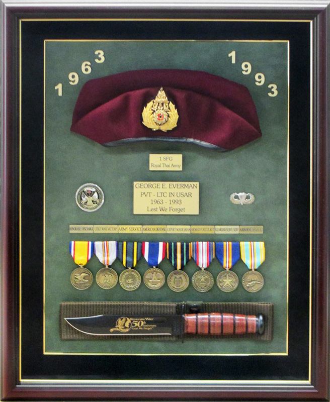 everman, US                             army, badge frame