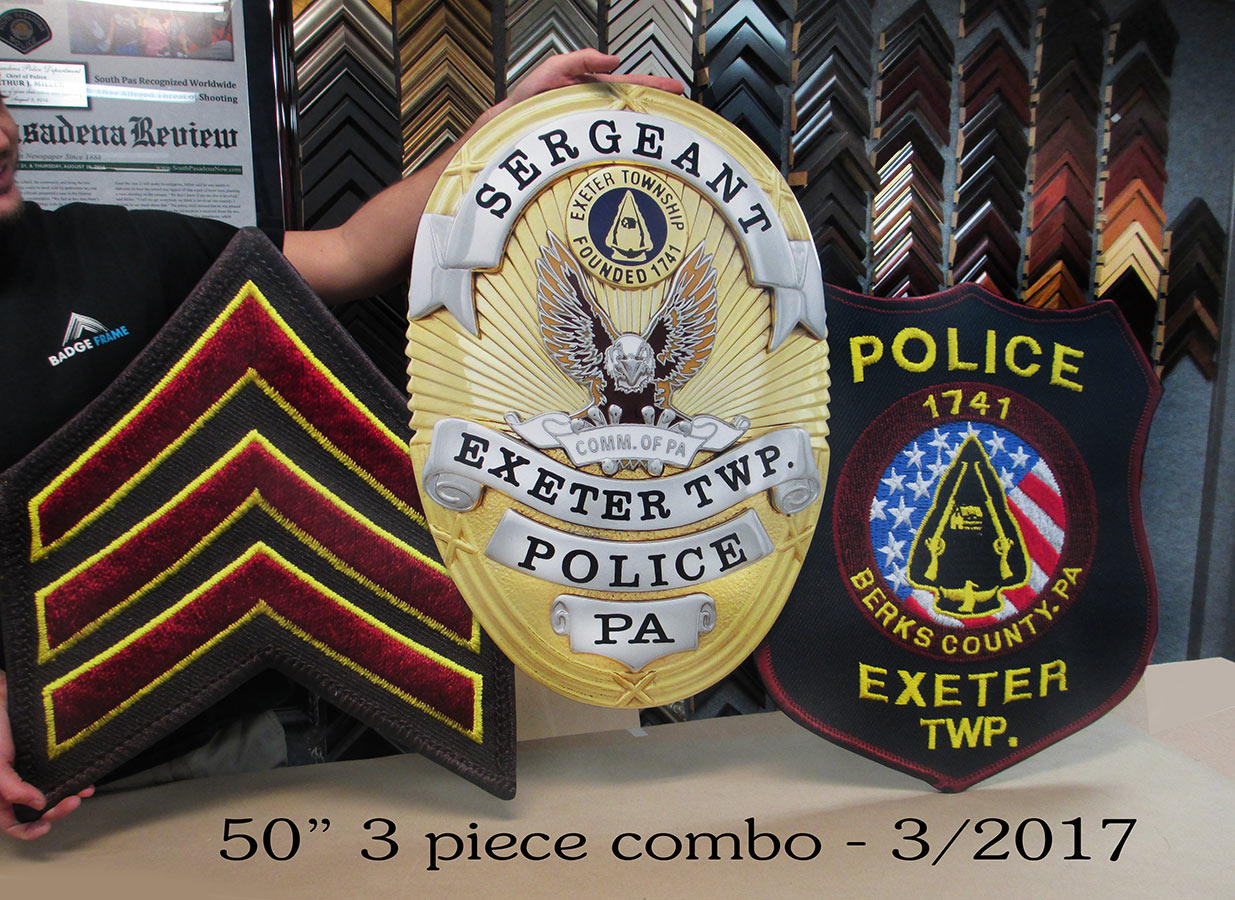 Exeter PD Sergeant Badge/Patch           Combo from Badge Frame