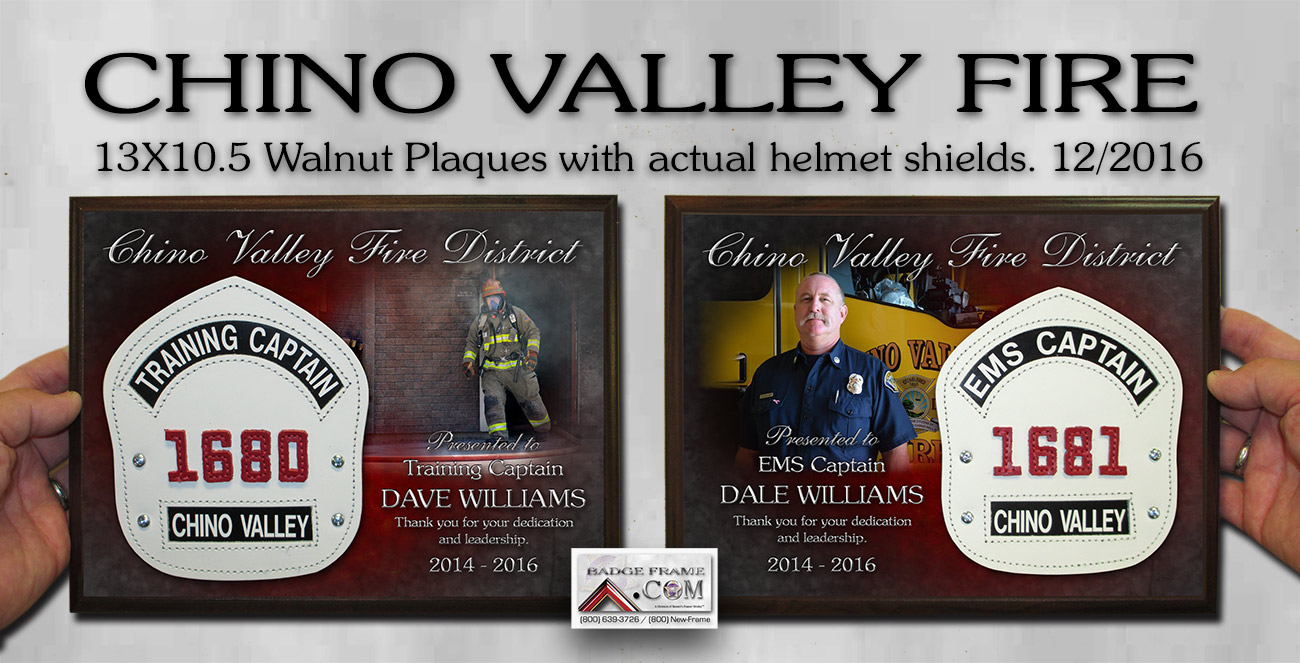Chino Valley Fire Recognition from Badge Frame