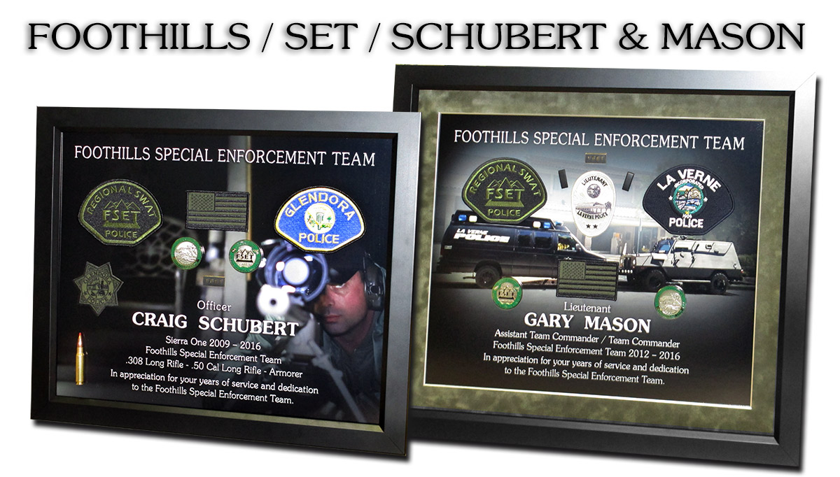 Foothills Special Enforcement Team presentations from               Badge Frame