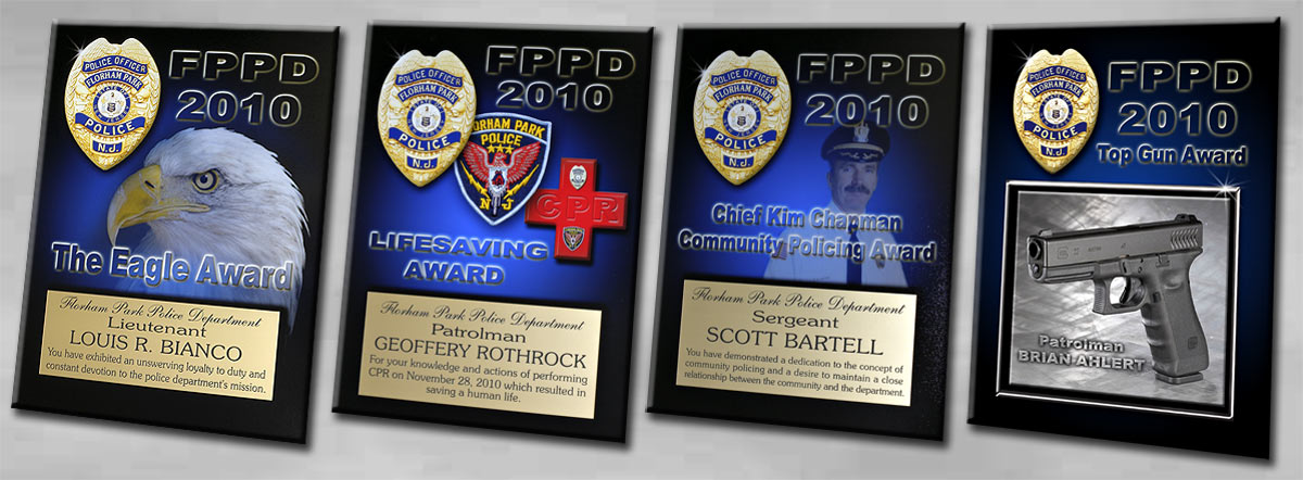 Recognition Plaques for Florham Park PD