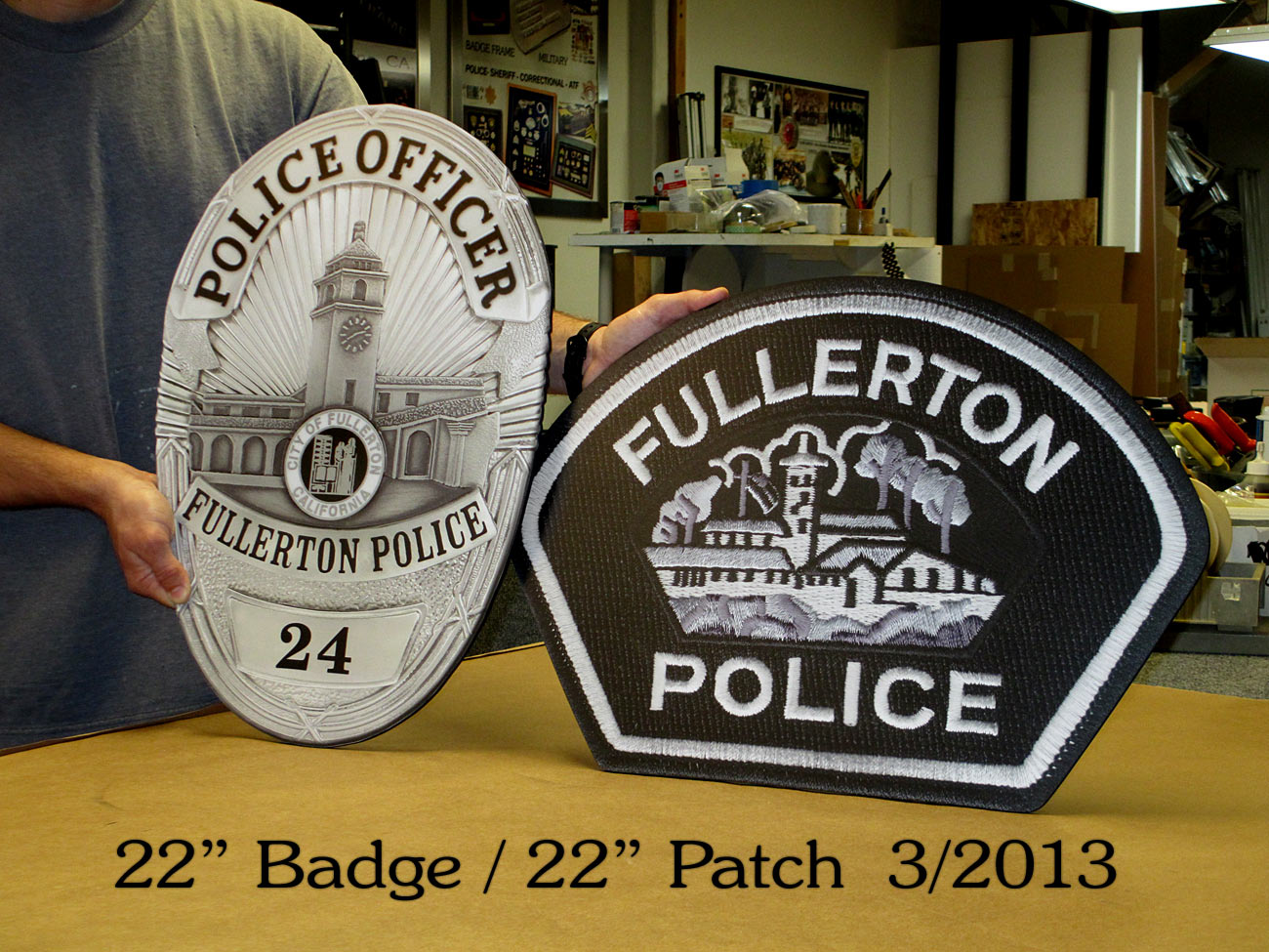 Fullerton Badge           & Patch