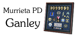 Badge Frame - Police Shadow Box - Ganley                   - Murrieta PD