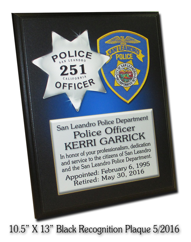 recognition plaque, badge frame