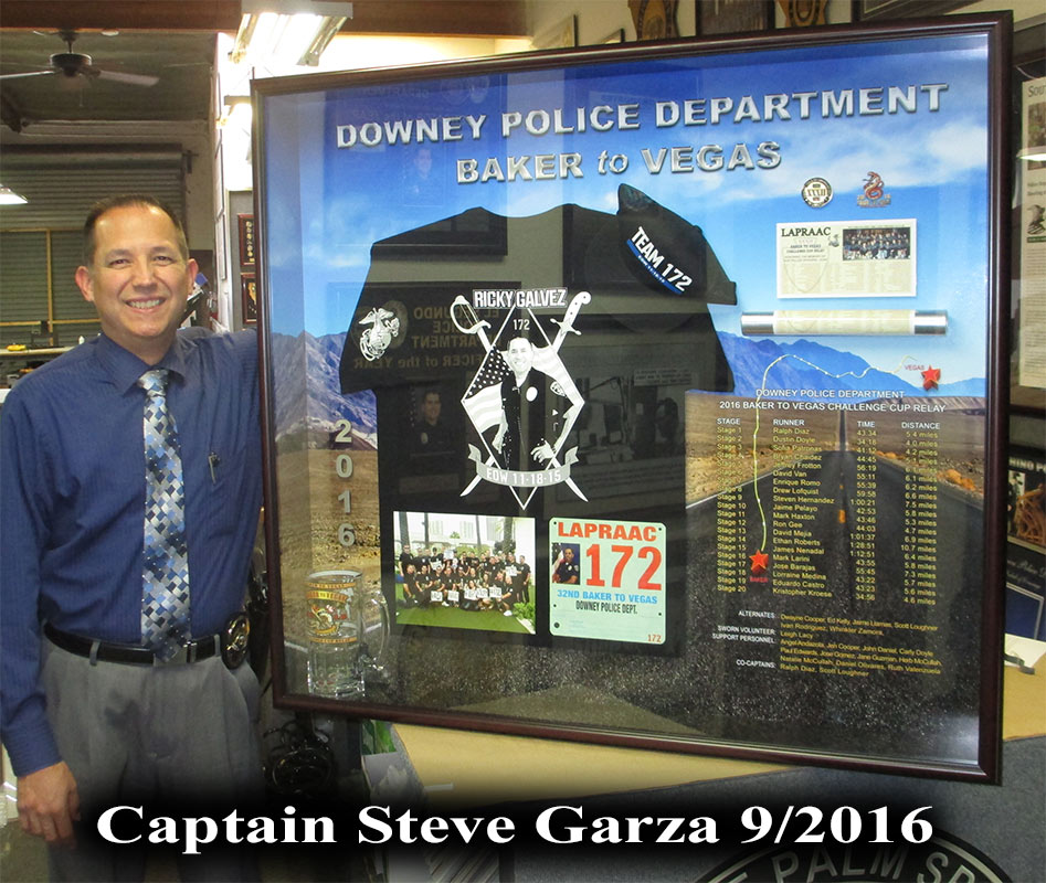 Captain Steve Garza - Downey PD -               Baker 2 Vegas presentation from Badge Frame