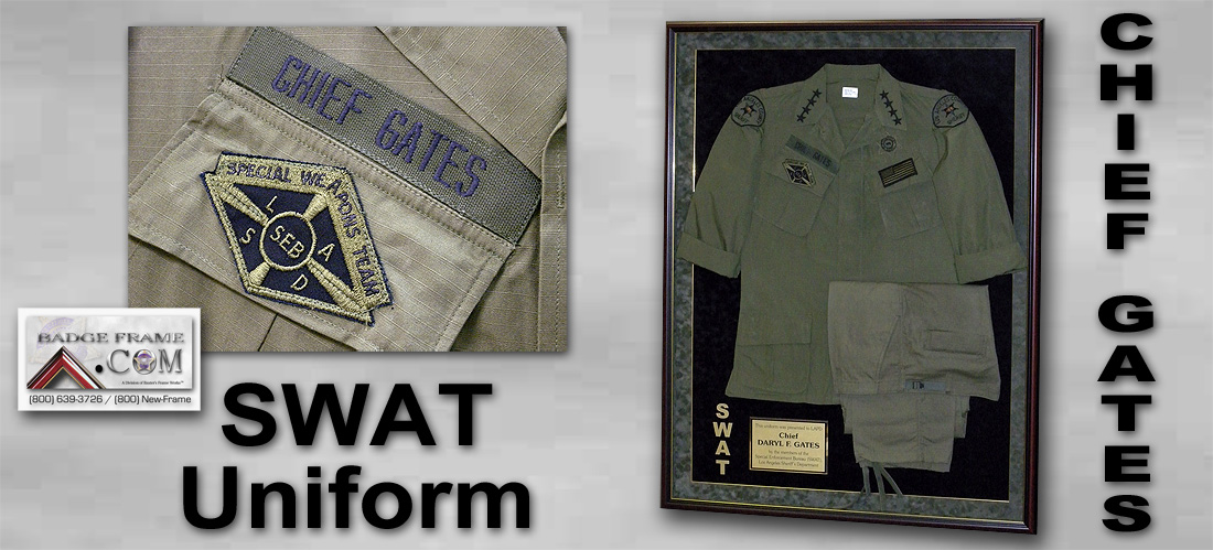 SWAT UNIFORM                   Shadowbox - Chief Gates