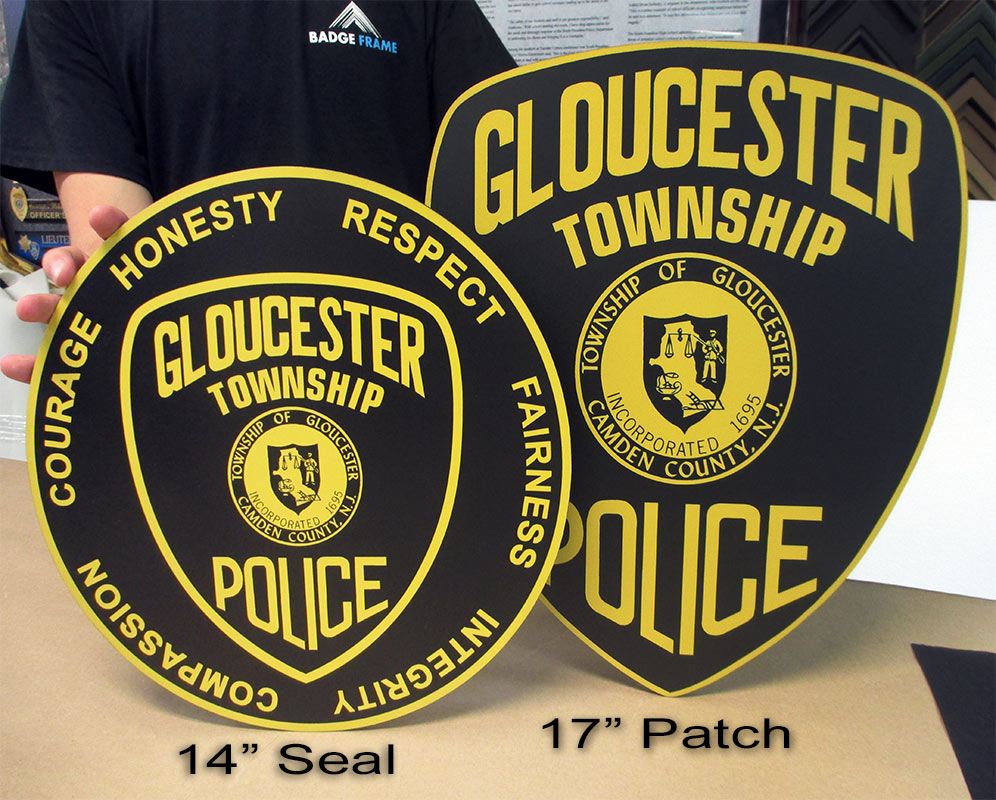 Glouchester PD Seal & Patch from Badge Frame