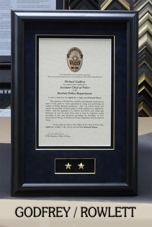 Badge Frame - Shadowboxes and wall presentations for Police, Sheriff ...