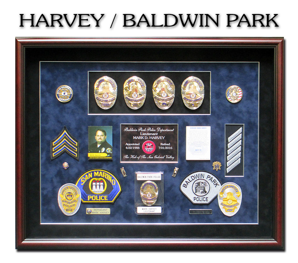 Police             Shadowbox for Baldwin Park from Badge Frame
