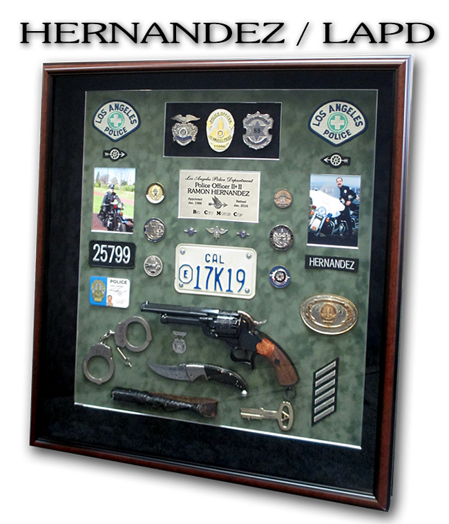 Hernandez - LAPD - Big City                   Motor Cop from Badge Frame