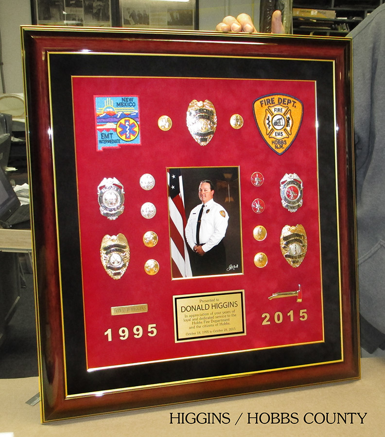 Hobbs County           Fire Presentation from Badge Frame for Higgins