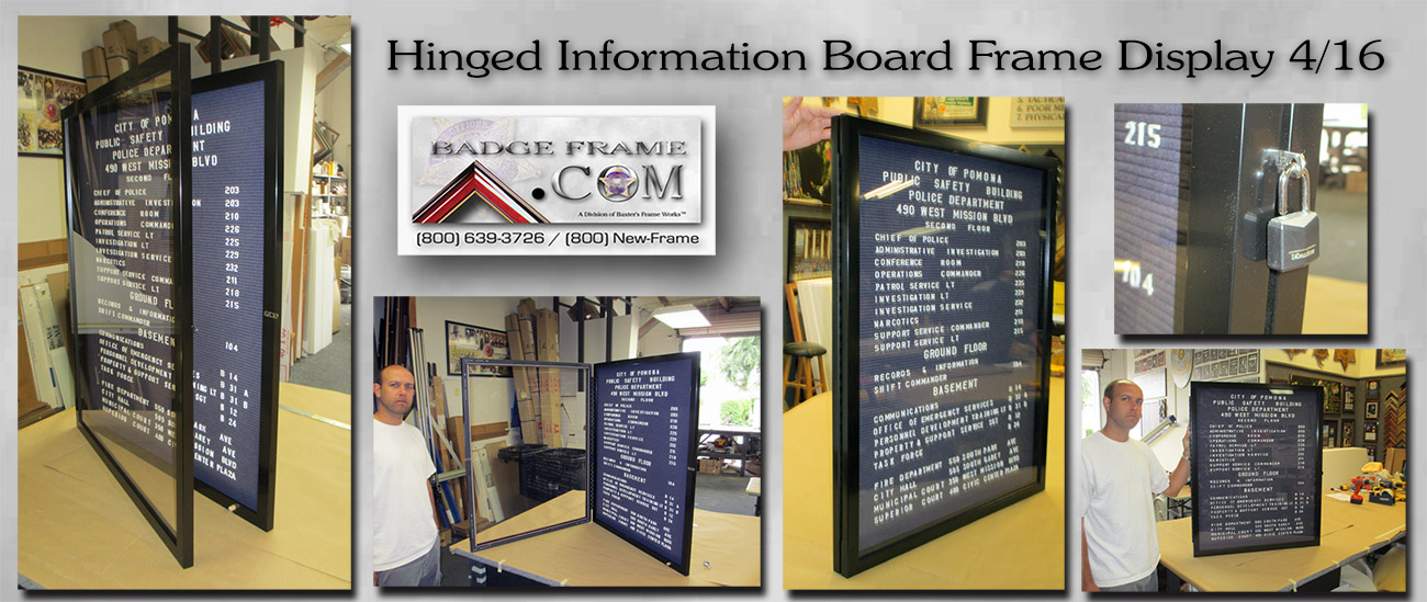 Hinged Information Board from Badge                             Frame