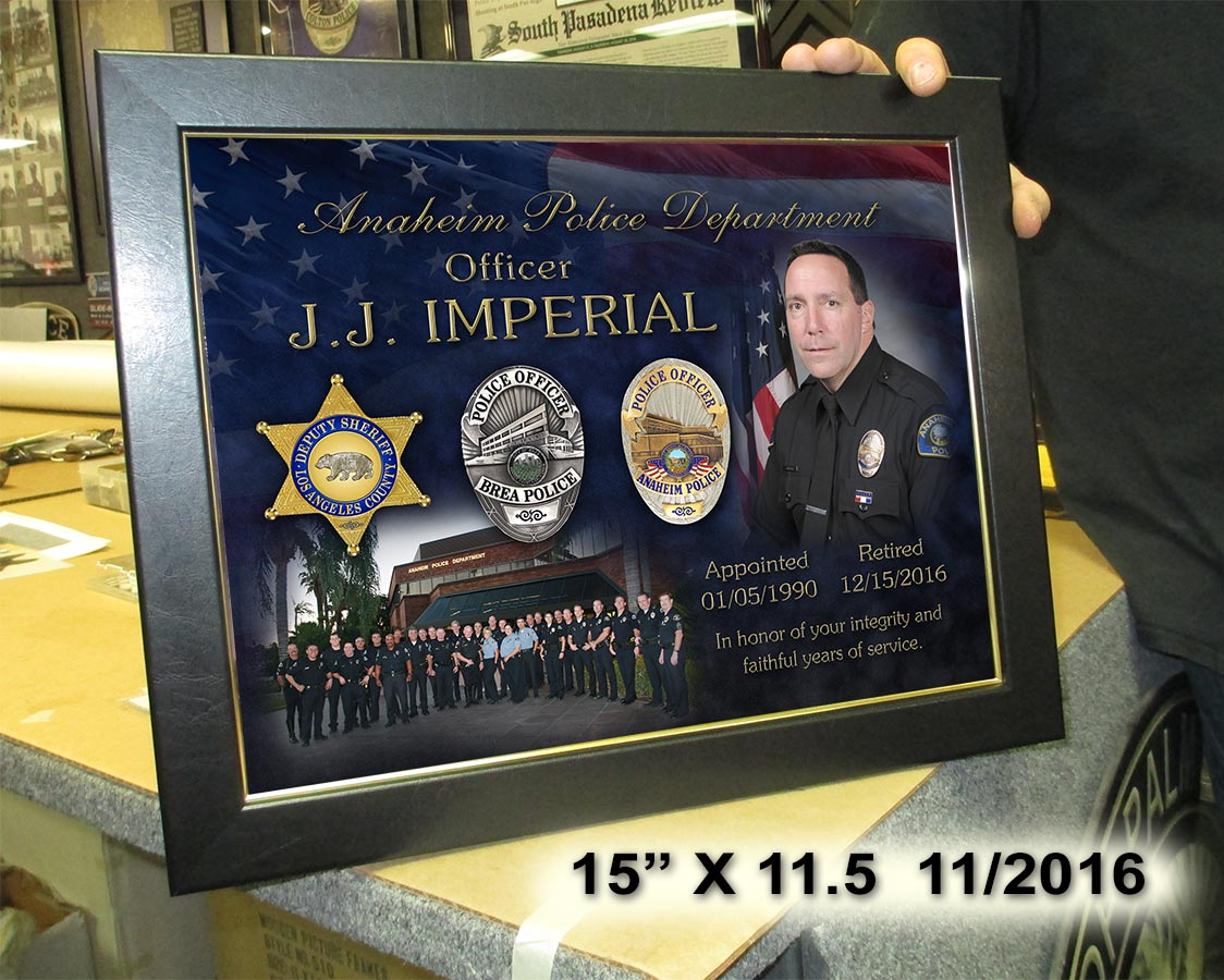 Imperial / Anaheim PD Recognition           Presentation from Badge Frame