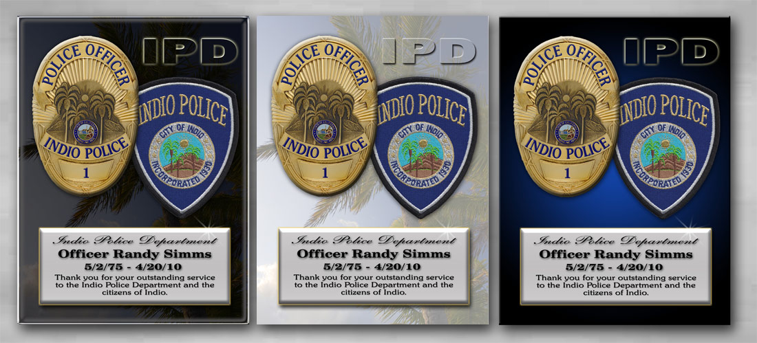 Indio PD -               Recognition