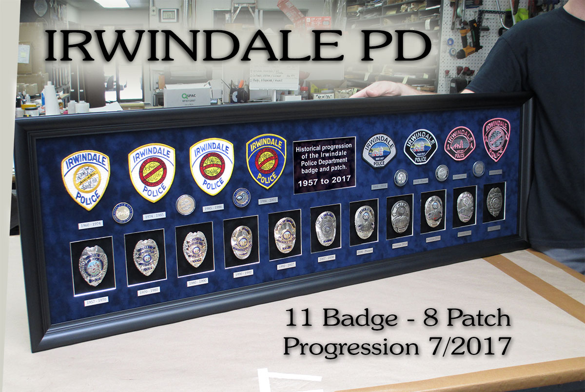 Irwindale PD Badge and Patch           Progression