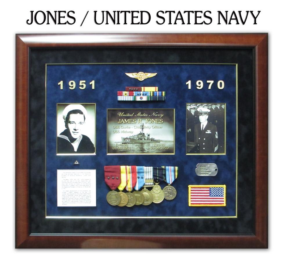 Badge frame custom career shadowboxes for police sheriff medals ribbons framed by badge frame jones us n magicingreecefo Image collections