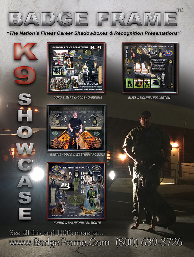 K-9 Magazine cover from Badge Frame