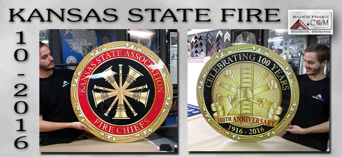 Kansas State Fire Association Emblems from Badge Frame 10/2016