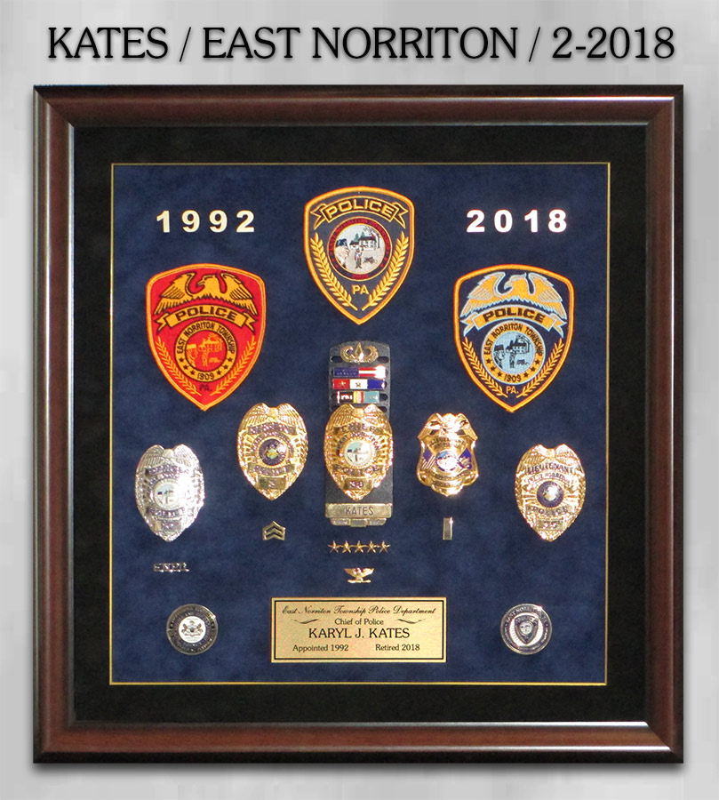 Kates / East Norriton PD Retirement from Badge Frame