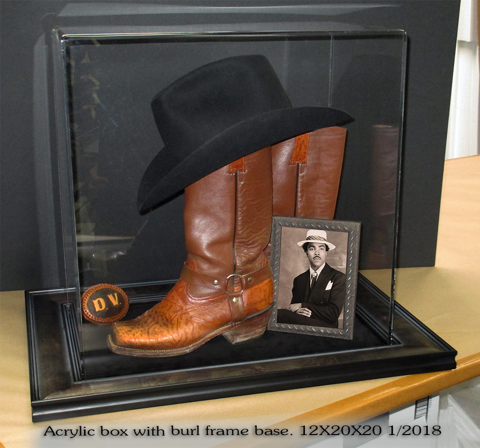 Western Boots Acrylic box from Badge frame