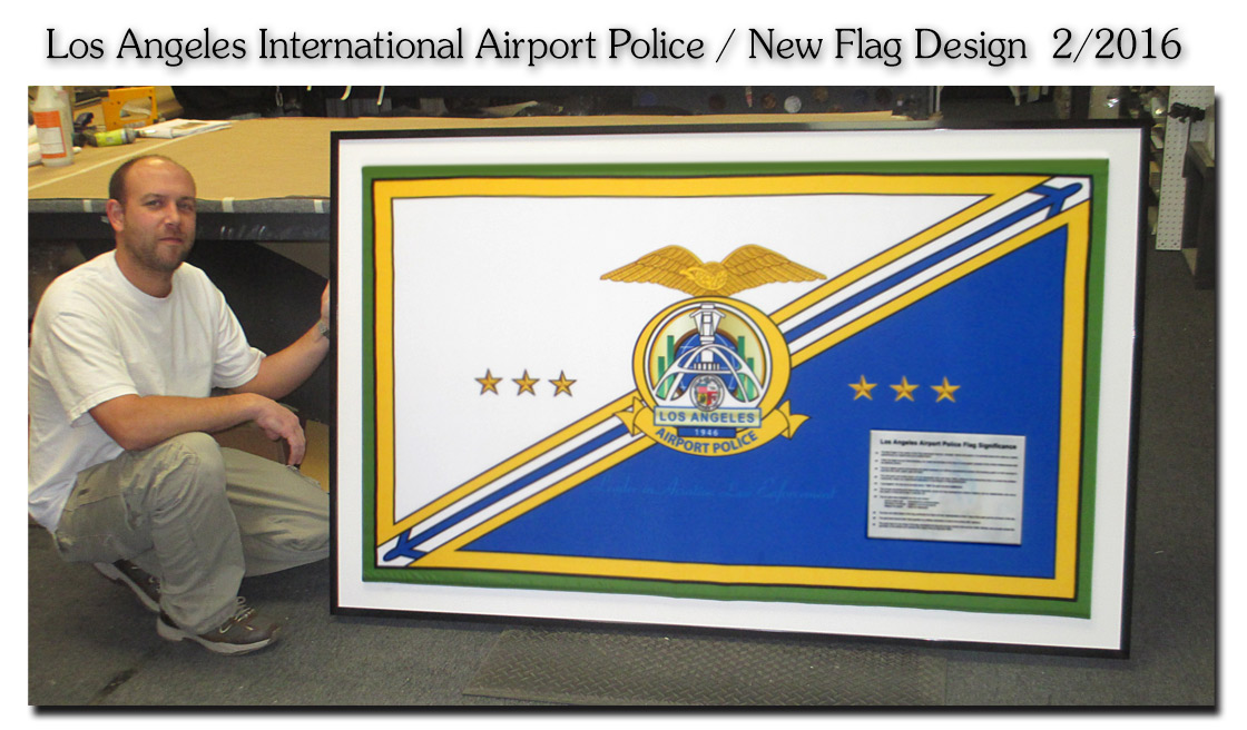 L.A. International           Airport Police - New Flag Design