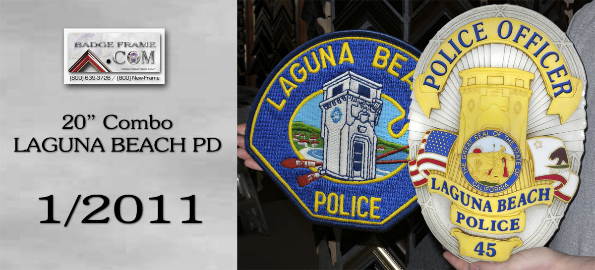 Laguna Beach PD - Badge/Patch Combo