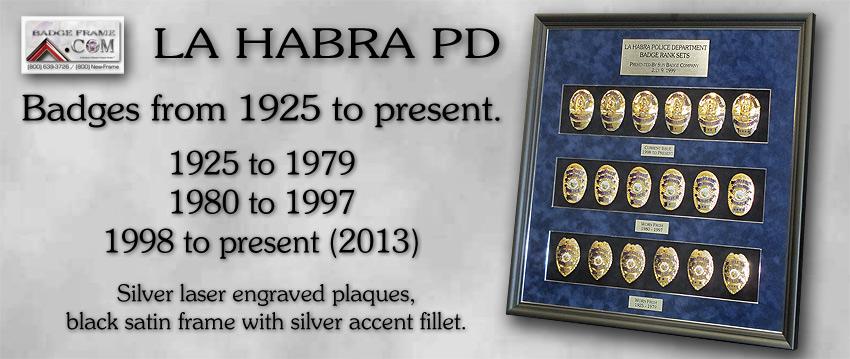La Habra PD Badges