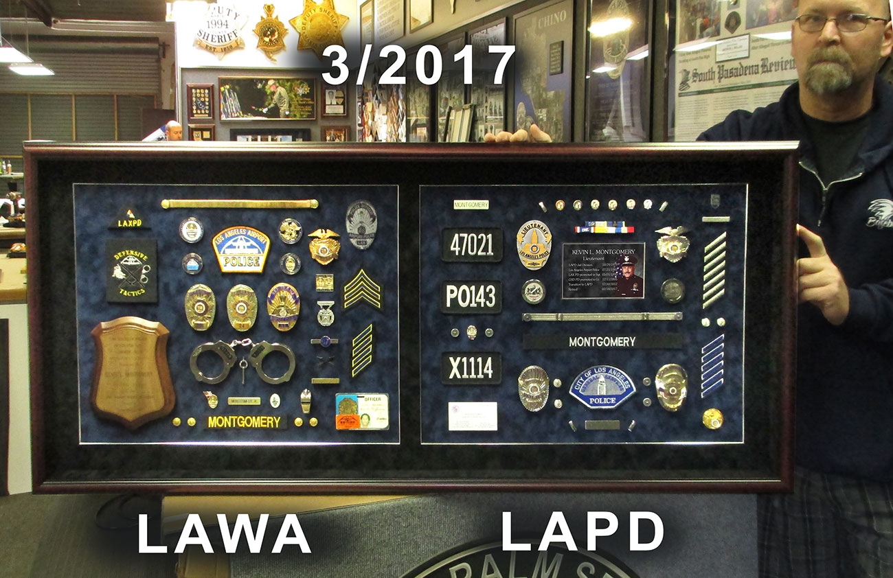 LAPD - LAWA Shadowbox from Badge Frame