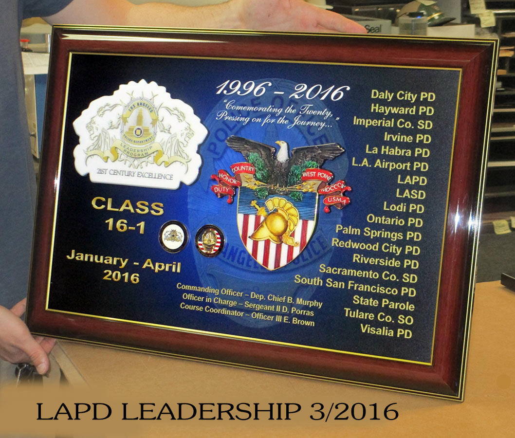 LAPD Leadership Program           Presentation 3/2016