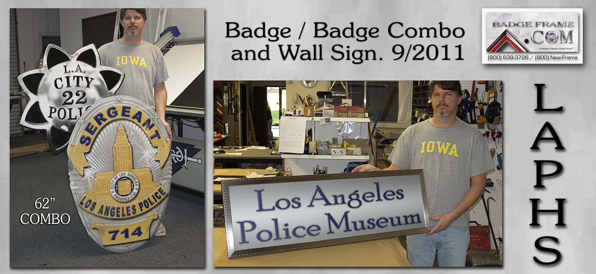 LAPHS - Museum Sign and Badge Combo