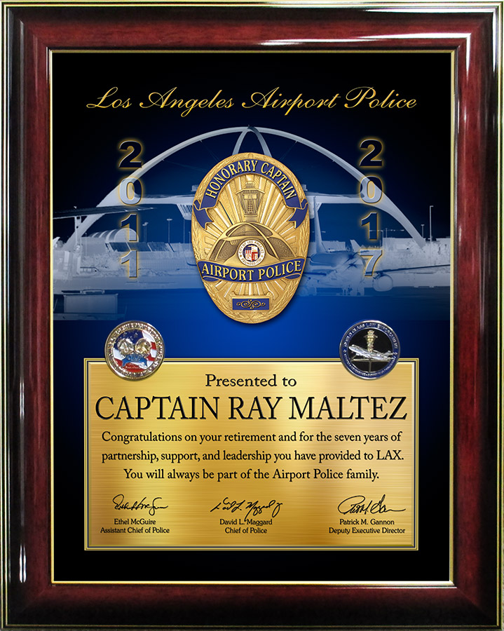 LAWA Retirement Presentation           from Badge Frame for Maltez