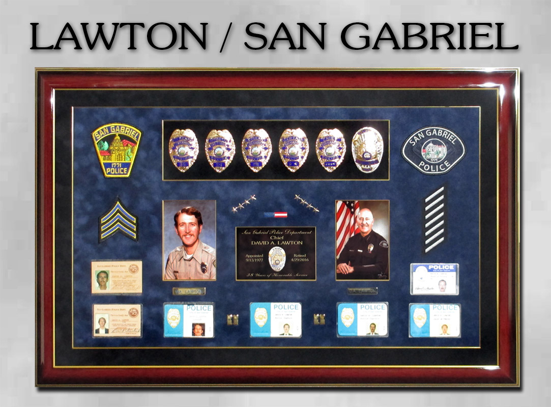 Chief Lawton - San Gabriel PD presentation from                 Badge Frame 8/2016