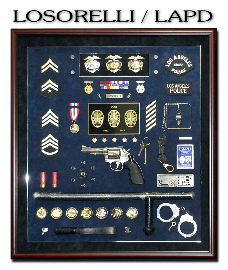 LAPD Police Shadowbox from Badge Frame for Losorelli
