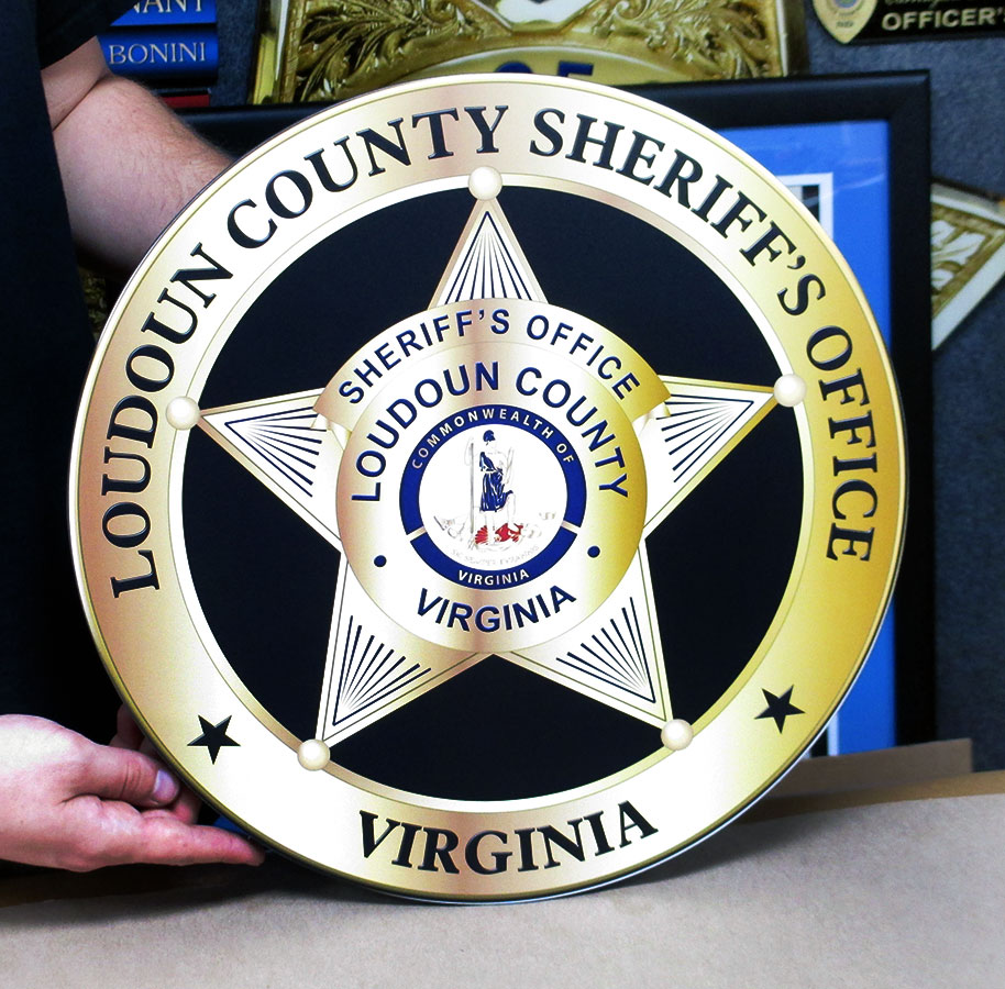 Loudoun County Sheriff Seal from Badge Frame
