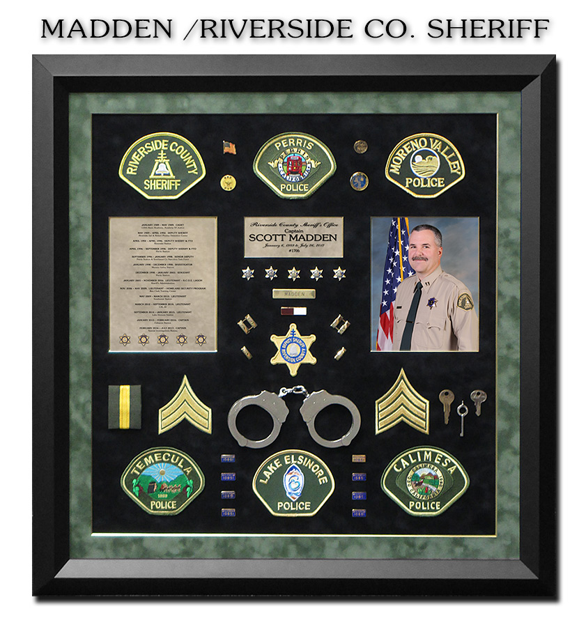 Sheriff Retirement           Shadowbox from Badge Frame for Scott Madden