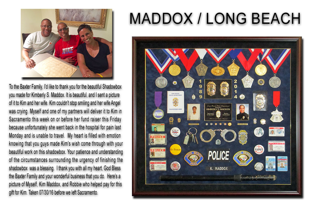 Maddox                 / Long Beach PD presentation from Badge Frame