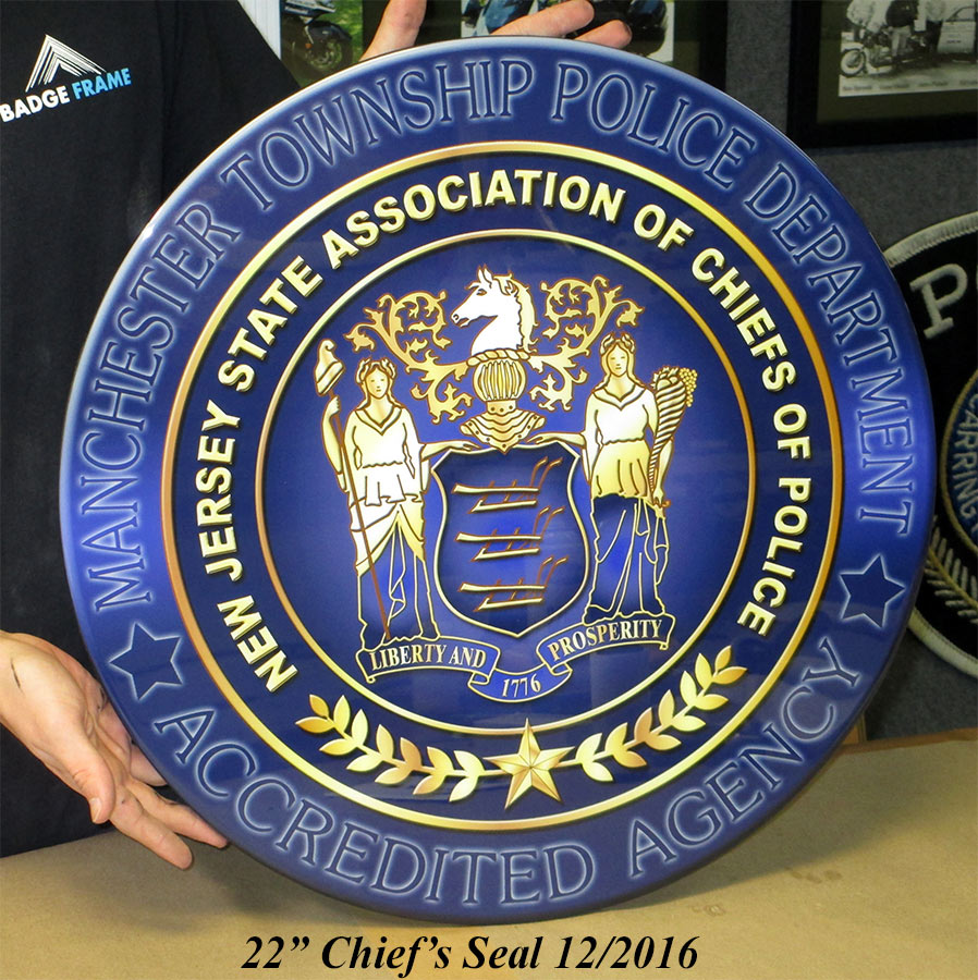 Manchester PD Seal from Badge Frame