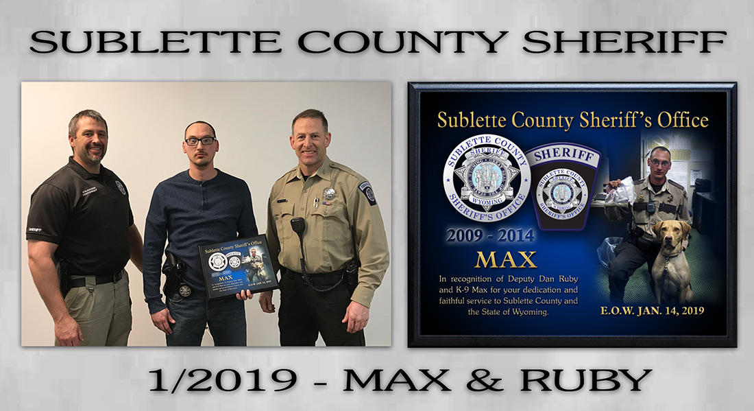 K-9 Max / Sublette County Sheriff's