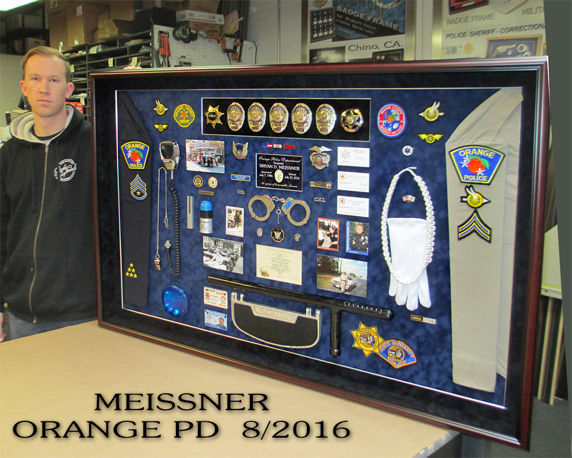 Meissner - Orange Police           Department Retirement Presentation from Badge Frame