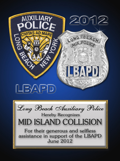 Long Beach Axuilary                 Police Department - Mid Island Collision