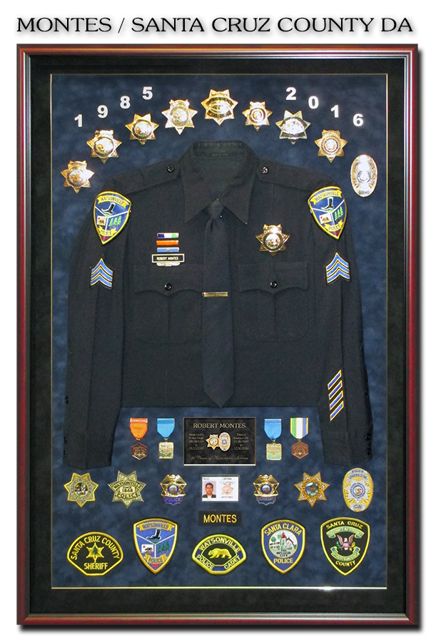 District             Attorney Shadowbox from Badge Frame for Montes - Santa Cruz             County D.A.