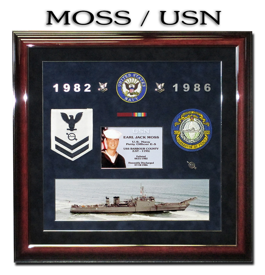 Earl Moss - United States Navy             presentation from Badge Frame 12-2016