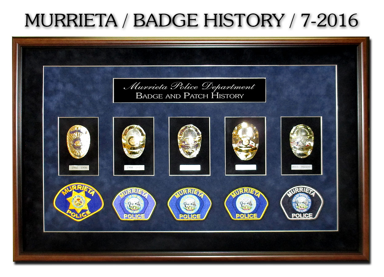 Badge History from Badge Frame, Murietta                     shadowboxes from Badge Frame