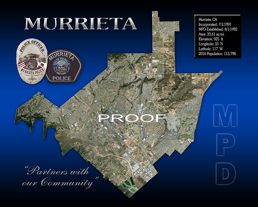Murrieta PD                             Boundary View from Badge Frame