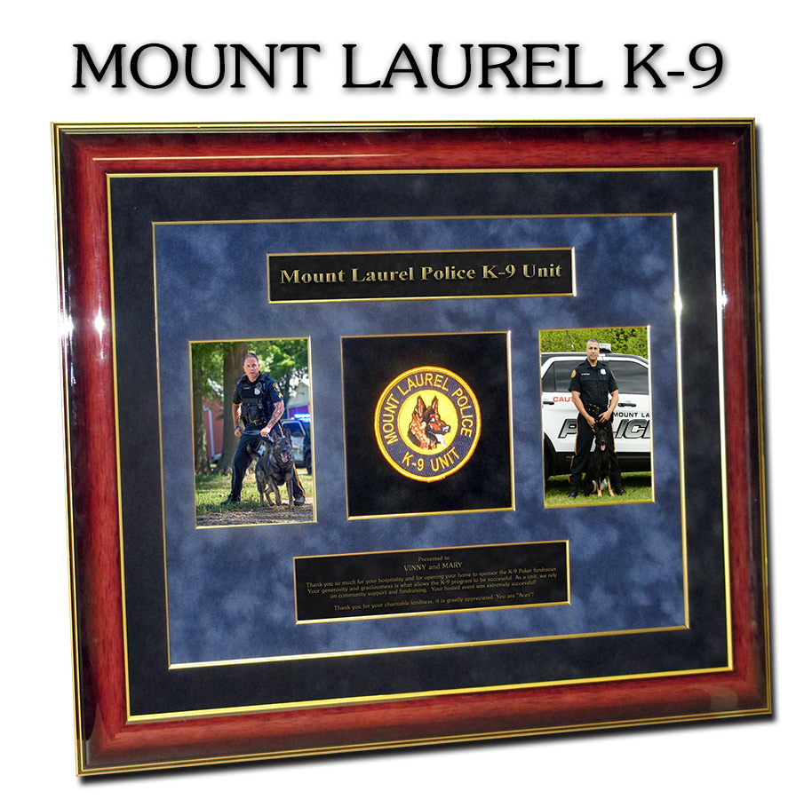 Mount Laurel PD K-9 presentation from Badge Frame