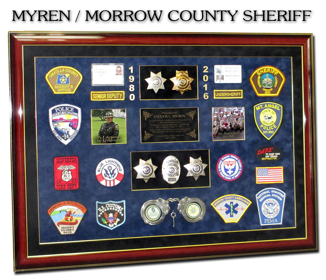 Myren / Morrow Count Sheriff presentation from Badge Frame
