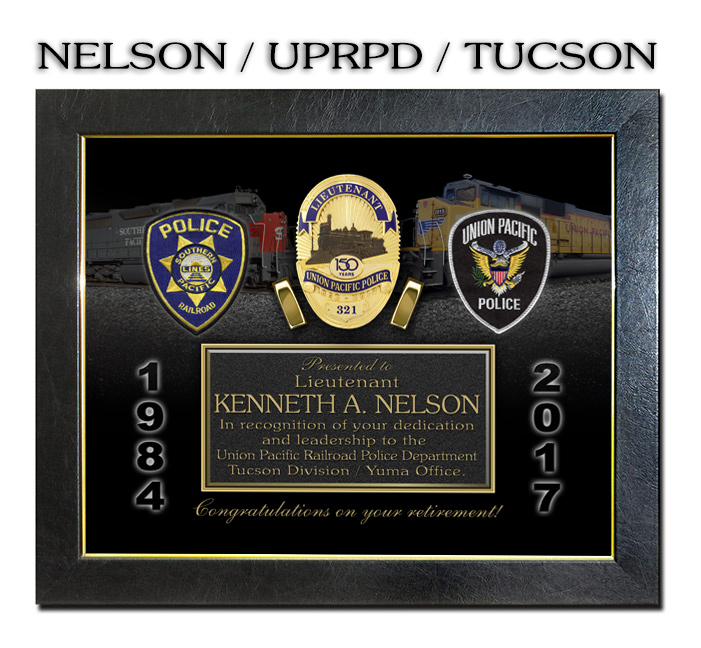 Nelson - Union Pacific Railroad Recognition from Badge Frame