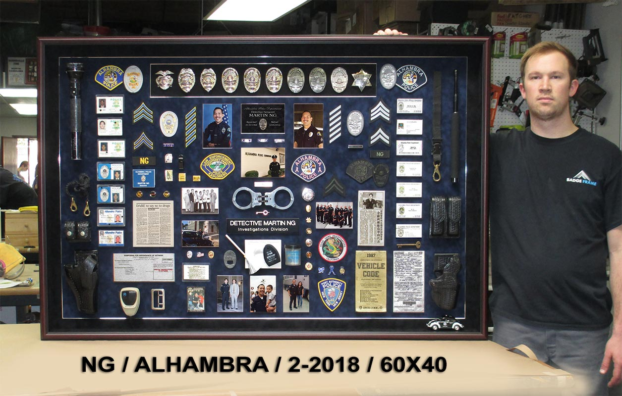 NG / Alhambra PD Retirement Presentation from Badge Frame 2/2018